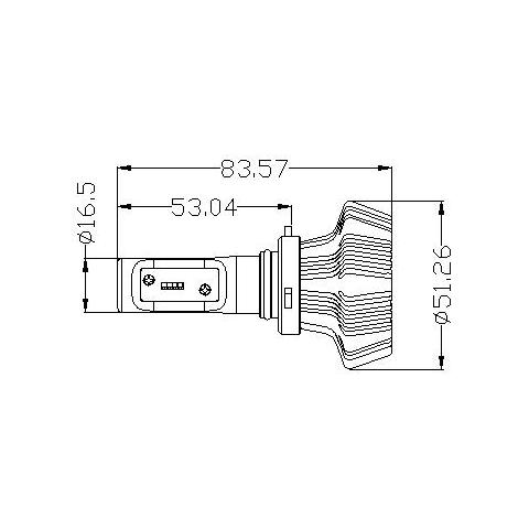 Набор светодиодного головного света UP-7HL-9006W-4000Lm (HB4, 4000 лм, холодный белый) Превью 1